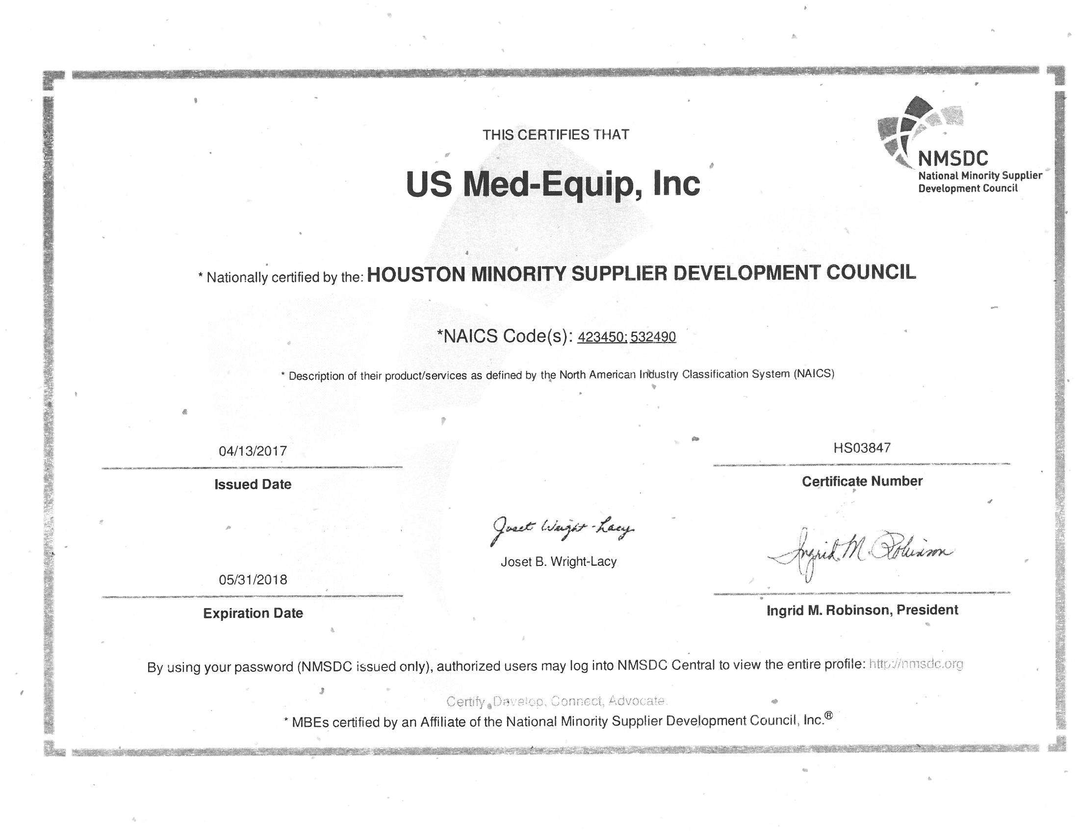 Diversity us med equipus med equip development council as well as being a certified texas historically underutilized business hub allows us to create an environment for employees 1betcityfo Choice Image